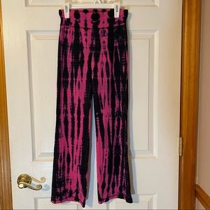 Justice Pink and Blue ty dye yoga pants